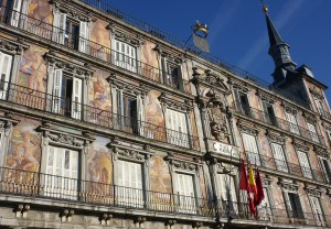 Homestay services : front of the oldest building in the Plaza Mayor, La Casa del Pan