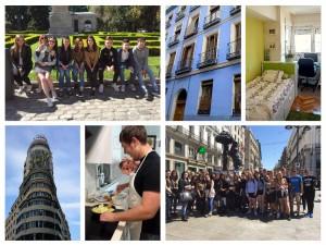Contacto con alojamientos de estudiantes: collage