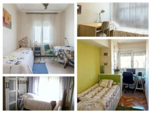 Homestay: collage of diffrent pictures presenting some of the homestay bedrooms