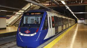 Madrid authentic Spanish experience : Picture of a subway train in a station