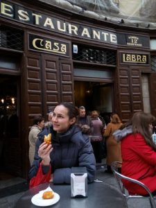 Tapas and Restaurants in Madrid: eating cod croquettes at the Casa Labra Restaurant
