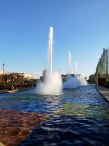 Madrid Quiz: fountains of Santander Park