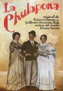 "Madrid Letters: poster of the light opera ""La Chulapona"""