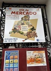 Markets in Madrid: entrance of Casa de Campo Market