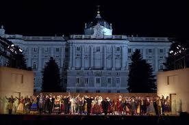Music festivals: picture of one of the shows at the Royal palace in Verano de la Villa festival
