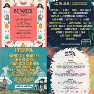Music festivals: Madrid, capital town of all music. Programmation posters of some festivals