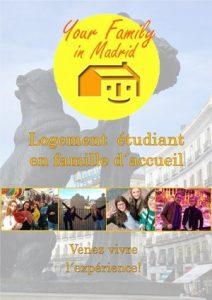 Faire des études en Espagne: affiche du service de logement en famille d´accueil à Madrid
